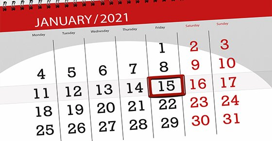The next estimated tax deadline is January 15 if you have to make a payment