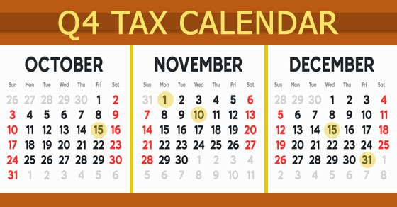 2021 Q4 tax calendar: Key deadlines for businesses and other employers